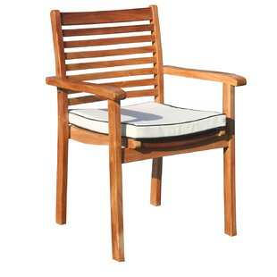 Italy Stacking Patio Dining Chair with Cushion