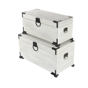 Cole & Grey 2 Piece Wood Trunk