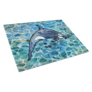 Under Water Glass Killer Whale Orca # Cutting Board ByCaroline's Treasures