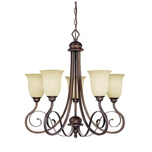 Fleur De Lis Living Samson 5-Light Shaded Chandelier