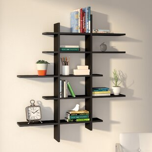 Baileyville 5 Shelf Asymmetric Wall Shelf