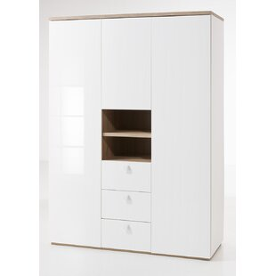 Globo 3 Door Wardrobe By Ebern Designs