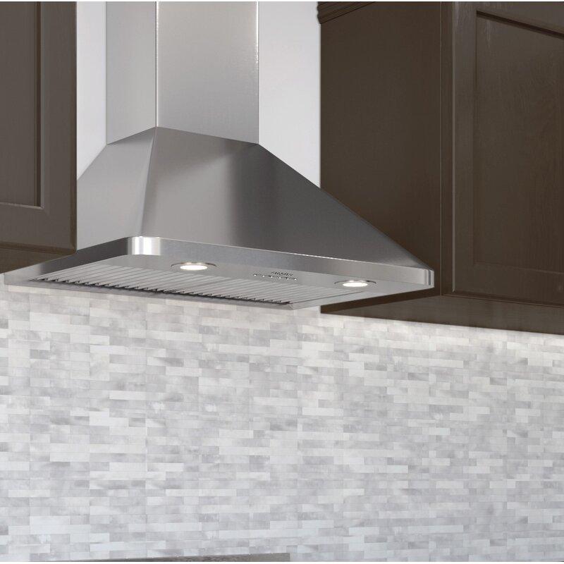 ancona 30 rapido chef hidden 600 cfm ducted wall mount range hood