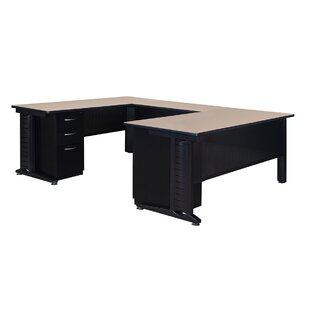 Red Barrel Studio Stivers Double Pedestal Corner Desk