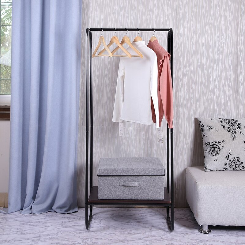 "Rebrilliant Asbury 25.19"" W Bedroom Home Clothes Rack | Wayfair"
