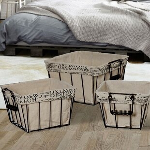 Shop For 3 Piece Rectangular Shaped Basket Set By Adeco Trading