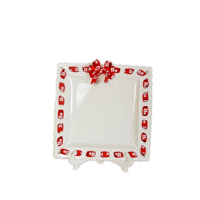 Ribbon Square Ceramic Decorative Plate