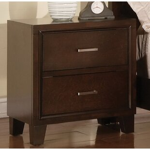 Jerlene 2 Drawer Nightstand by Wrought Studio