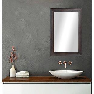 Winston Porter Hille Walnut Wall Mirror
