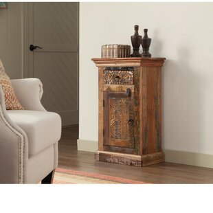 Brocklehurst Imprinted Wooden 1 Door Accent Cabinet by World Menagerie