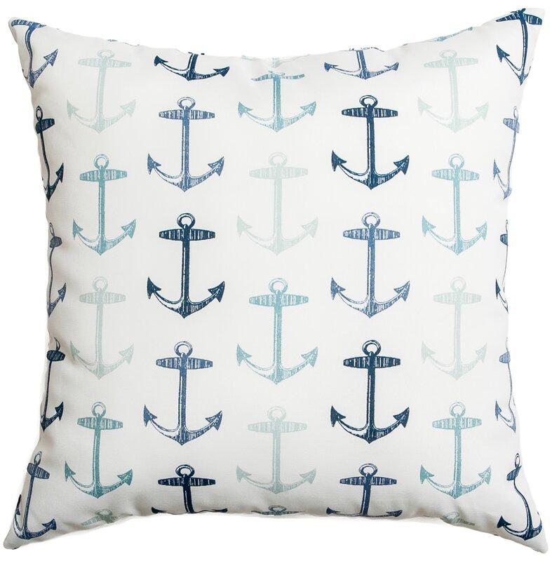 Sunline Anchors Decorative Indoor/Outdoor Throw Pillow