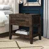 Docia 1 - Drawer Nightstand in Brown by Greyleigh™