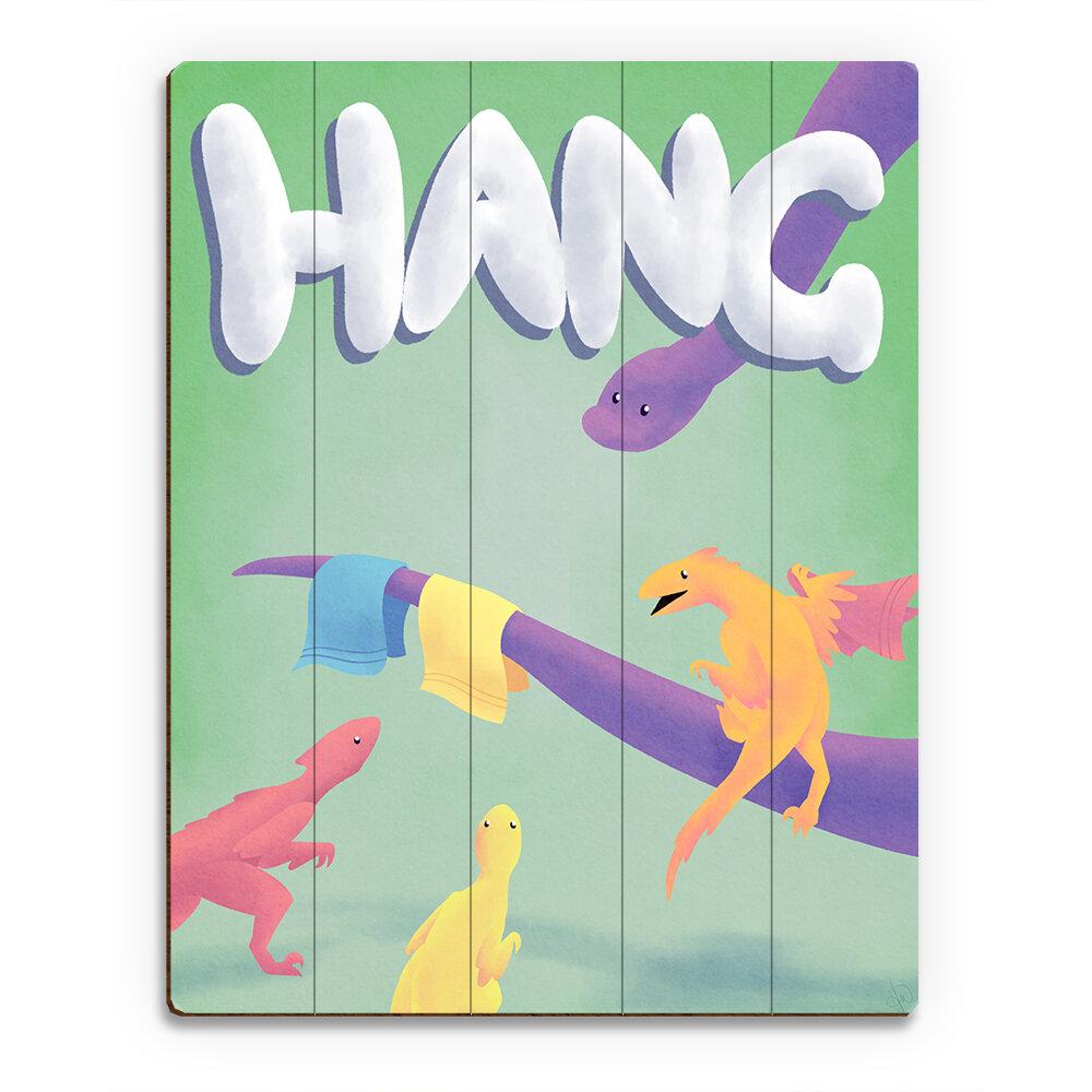 Click Wall Art Wood Slats Hang Dinosaur Graphic Art On Plaque Wayfair
