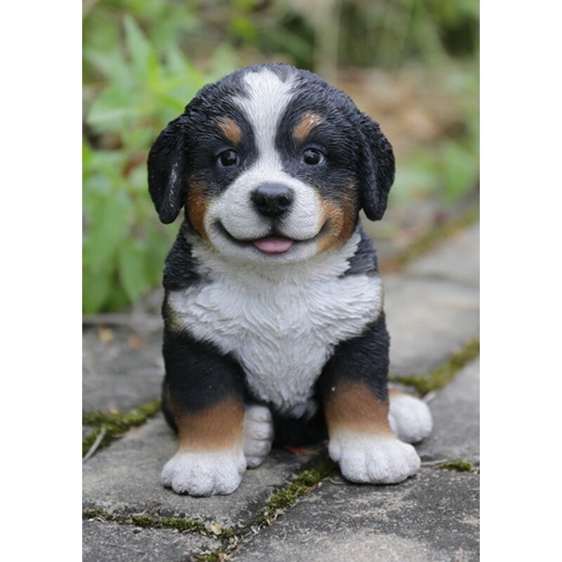 Bernese Mountain Dog Puppy Statue