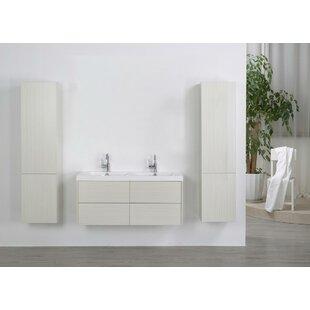 47 Wall-Mounted Double Bathroom Vanity Set