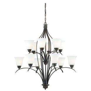 Nicholas 12-Light Shaded Chandelier By Ebern Designs