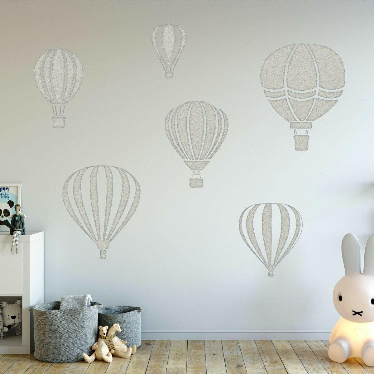Hot Air Balloon Wall Decal Kid Transport Wall Decal Wall Decals Nursery Balloon Kids Wall Decal REUSABLE Nursery Wall Decal Airplane