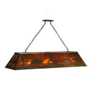 Meyda Tiffany Buffalo at Lake 9-Light Billiard Light