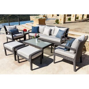 Brayden Studio Beam 8 Piece Sunbrella Sofa Seating Group with Cushions
