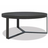 Contemporary 38 inch Round Coffee Table- Slate Finish With Honed Granite Top