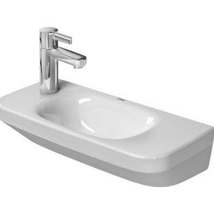 Best Reviews DuraStyle Ceramic 20 Wall Mount Bathroom Sink By Duravit