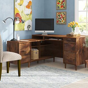 Vosburgh L-Shape Executive Desk By Ophelia & Co.