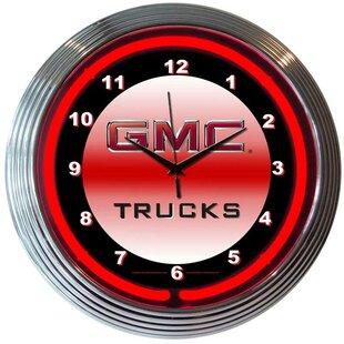 Bar and Game Room 15 RGMC Trucks Wall Clock By Neonetics