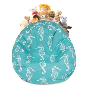 Sea Horse Stuffed Animal Toy Storage Bean Bag Chair