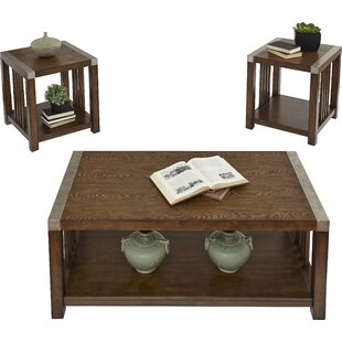 Best Creede 3 Piece Coffee Table Set By Loon Peak