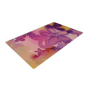 Louise Machado Dissolved Flowers Pink Area Rug
