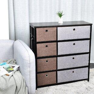 Kleiman 4-Tier Fabric Storage Organizer 8 Drawer Double Dresser by Ebern Designs