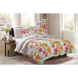 Wallasey 3 Piece Reversible Quilt Set