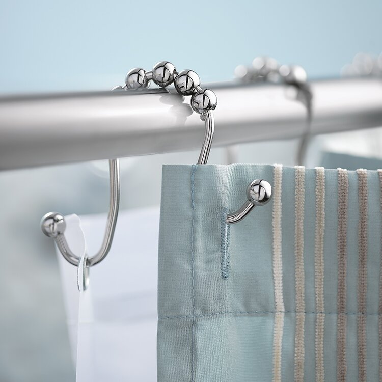 Double Shower Curtain Hooks