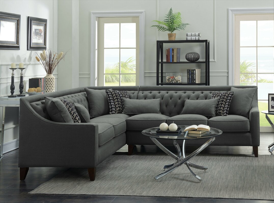 zivah solid lshaped sectional