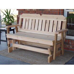 Olivia Cedar Glider Bench by Millwood Pines