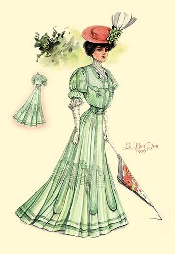 Buyenlarge Le Bon Ton Green For Springtime Painting Print Wayfair