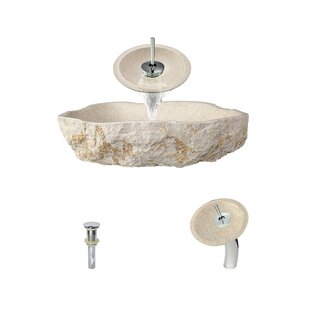 MR Direct Galaga Stone Specialty Vessel Bathroom Sink with Faucet