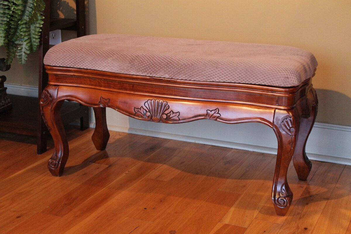 Astoria Grand Betty Solid Wood Vanity Bench