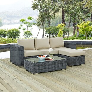 Brayden Studio Keiran 3 Piece Sunbrella Sectional Set with Cushions