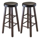 Capac Solid Wood Stool (Set of 2) by Winston Porter