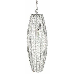 Dillion Twinkling Gem 1-Light Crystal Pendant by Harriet Bee