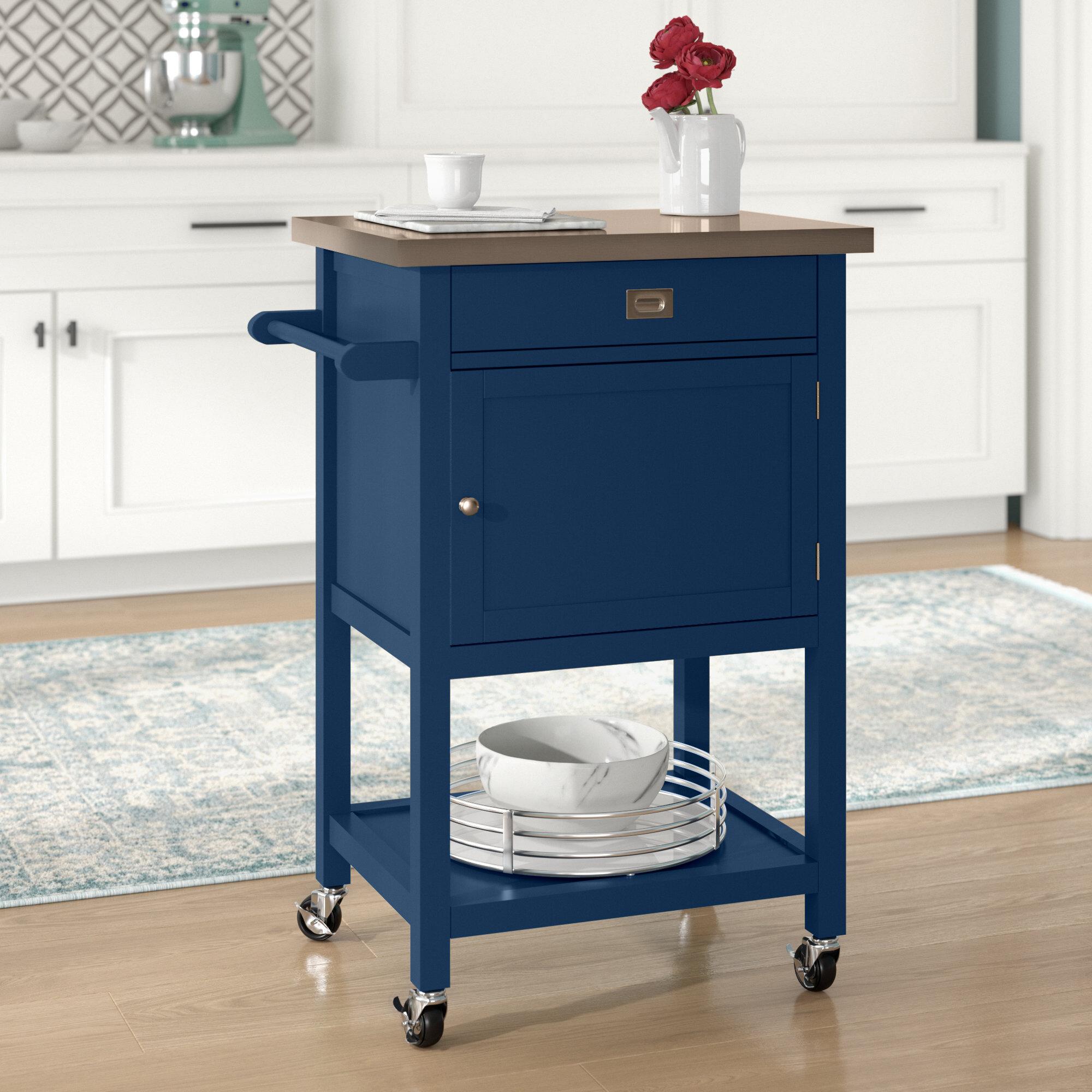 Blue Kitchen Islands Carts You Ll Love In 2021 Wayfair