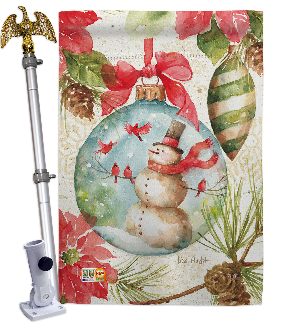 Breeze Decor Impressions Decorative Woodland Holiday 2 Sided Polyester 40 X 28 In Flag Set Wayfair