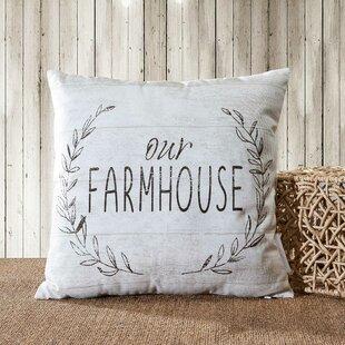 Priya Our Farmhouse Indoor/Outdoor Cotton Throw Pillow