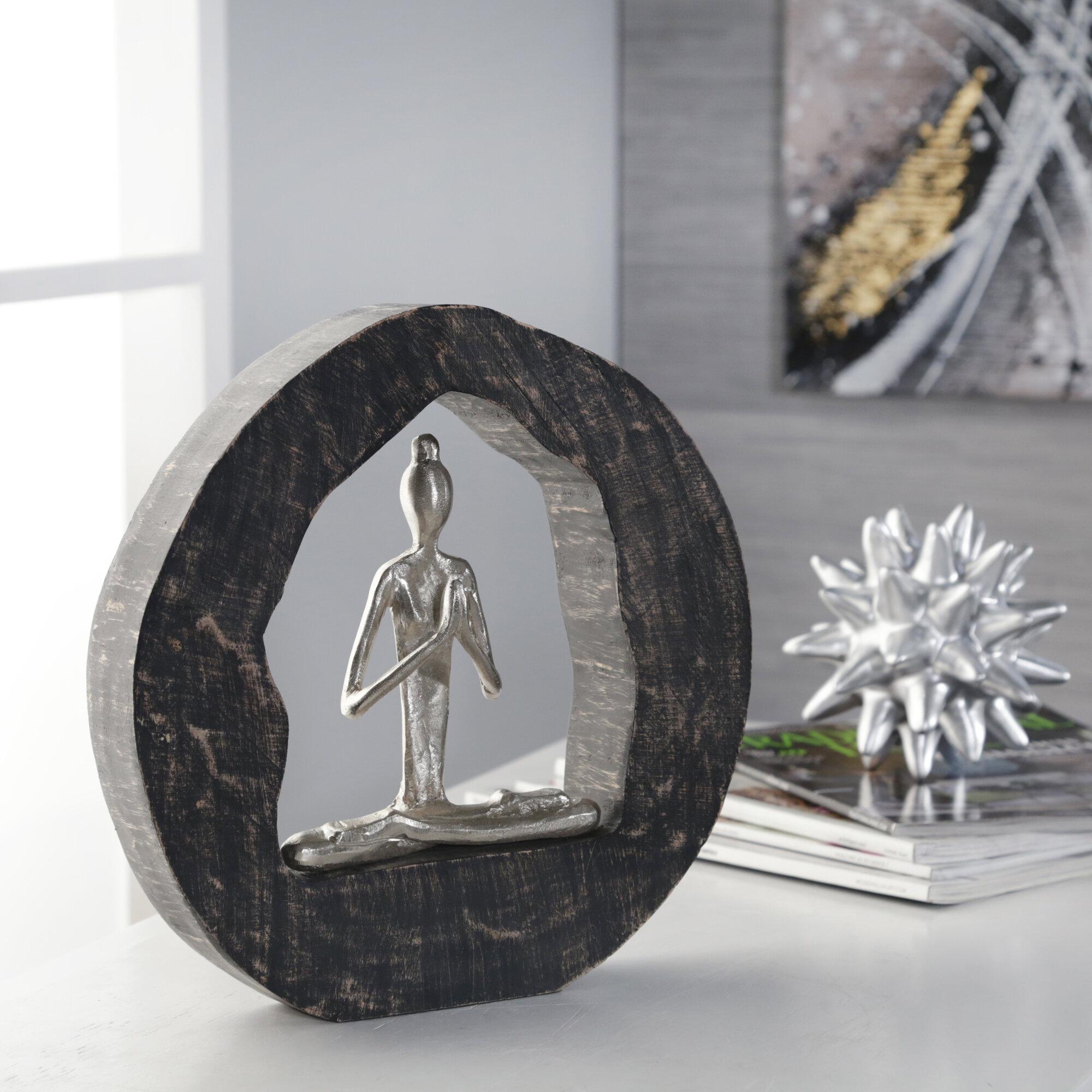 World Menagerie Uwais Aluminum Yoga Lady In Circle Wayfair