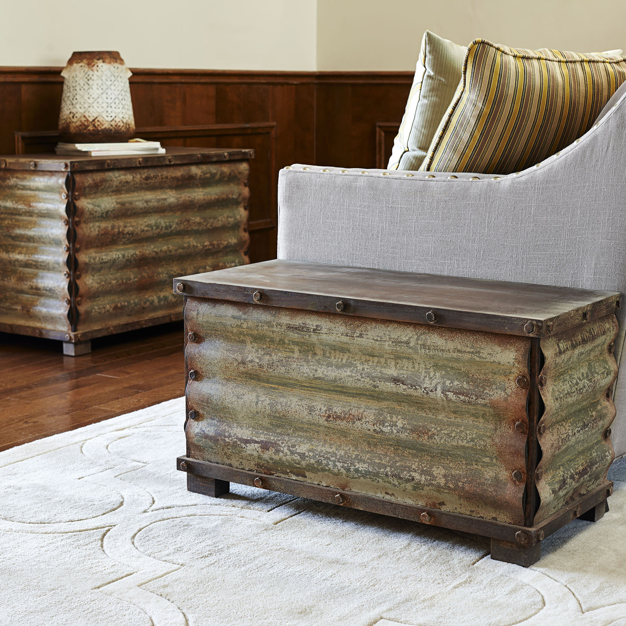 Household Essentials 2 Piece Coffee Table Trunks Set & Reviews