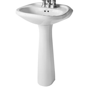 Mansfield Plumbing Products Verona Vitreous China Pedestal Bathroom Sink with Overflow