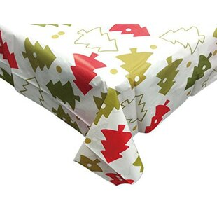 Christmas Whimsy Vinyl Tablecloth With Polyester Flannel Backing