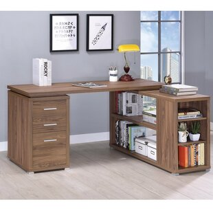 Ebern Designs Ralphs Exquisite Wooden Executive Desk
