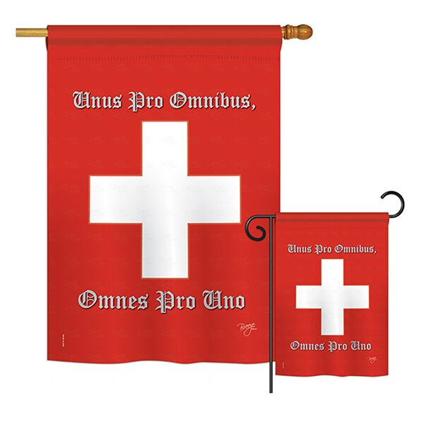 Breeze Decor Swiss Of The World Nationality Impressions Decorative Vertical 2 Sided Polyester 2 Piece Flag Set Wayfair